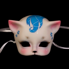 Mask of Cat Demon/Solid white