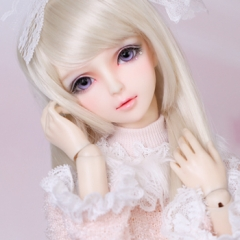 1/3 youth bjd long straight wig/light golden