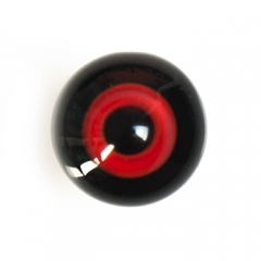14mm black backing dark red color