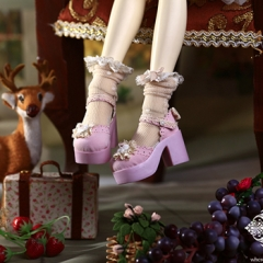 1/4 Kid Bjd Loli Shoes/Pink