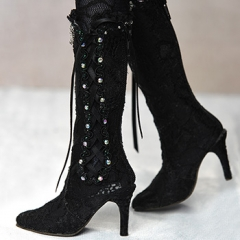 1/3 fairy lace high boots/black
