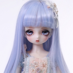 1/6 baby doll blue & green curl wig