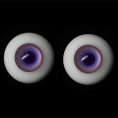 14mm transparent blue & purple eyeballs