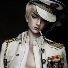 74cm Male LanLing King sp Military armor(white)/ChenYi