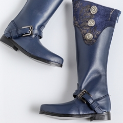 70+ MALE EURO BLUE LONG BOOTS